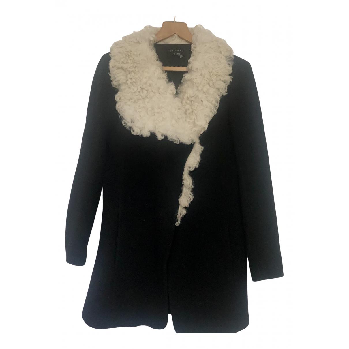 Theory - Manteau   pour femme en laine - noir