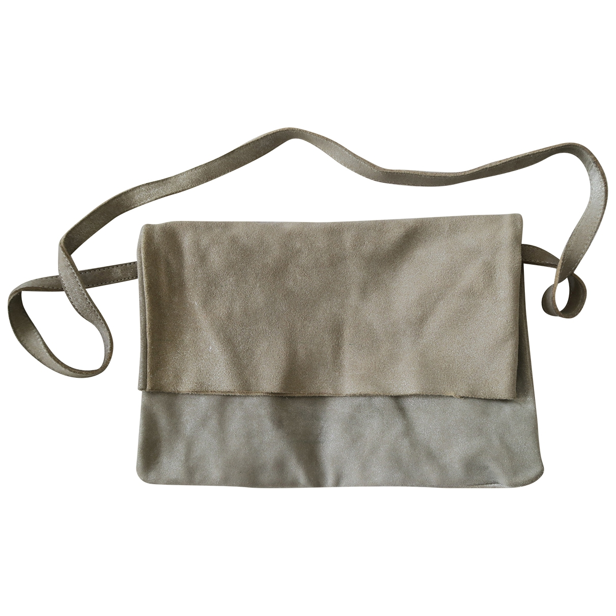 Mango \N Silver Suede handbag for Women \N