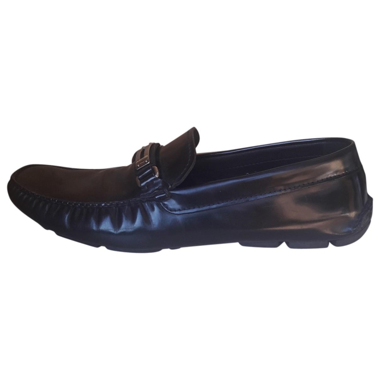 Prada \N Black Leather Flats for Men 44 EU