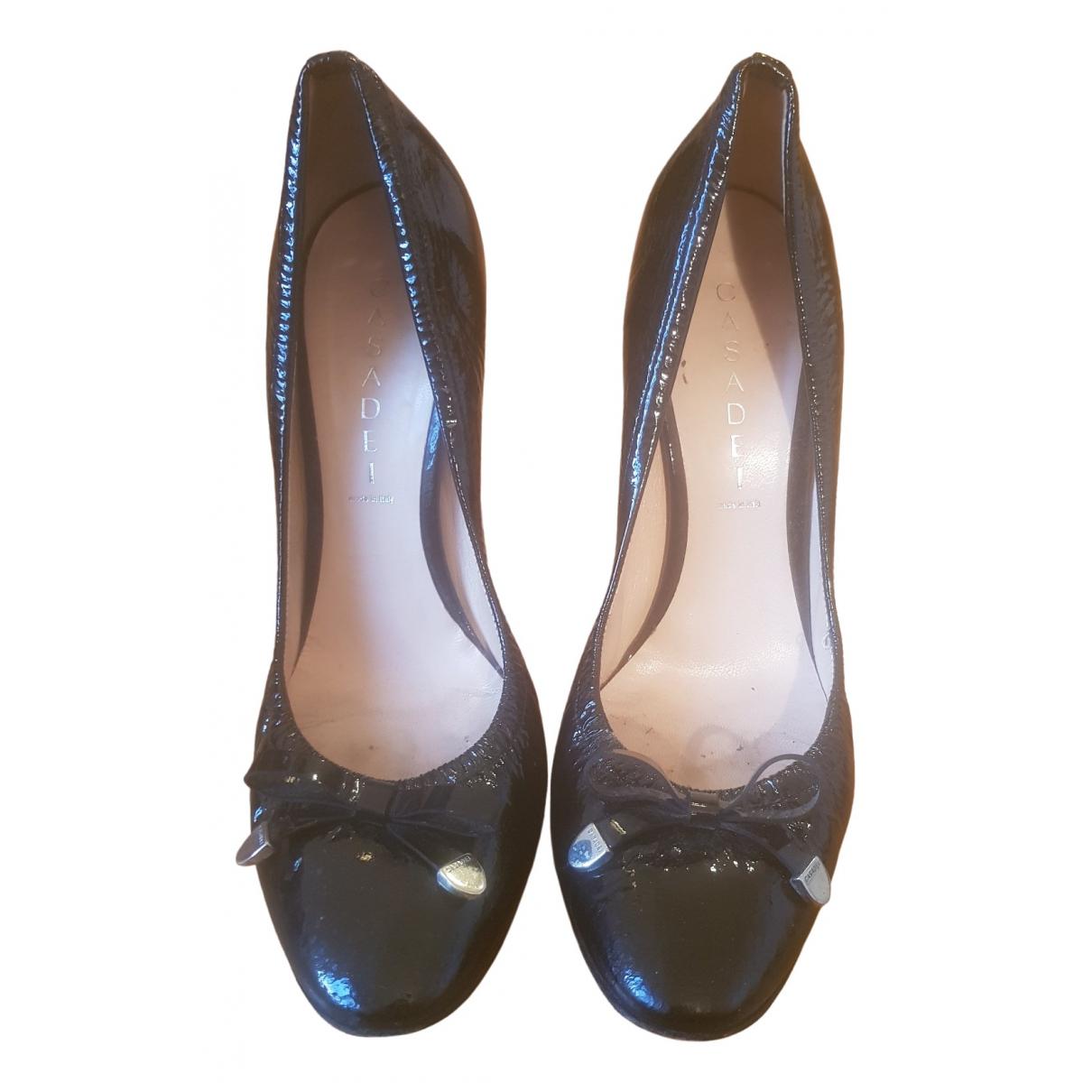 Casadei \N Black Patent leather Heels for Women 38.5 EU