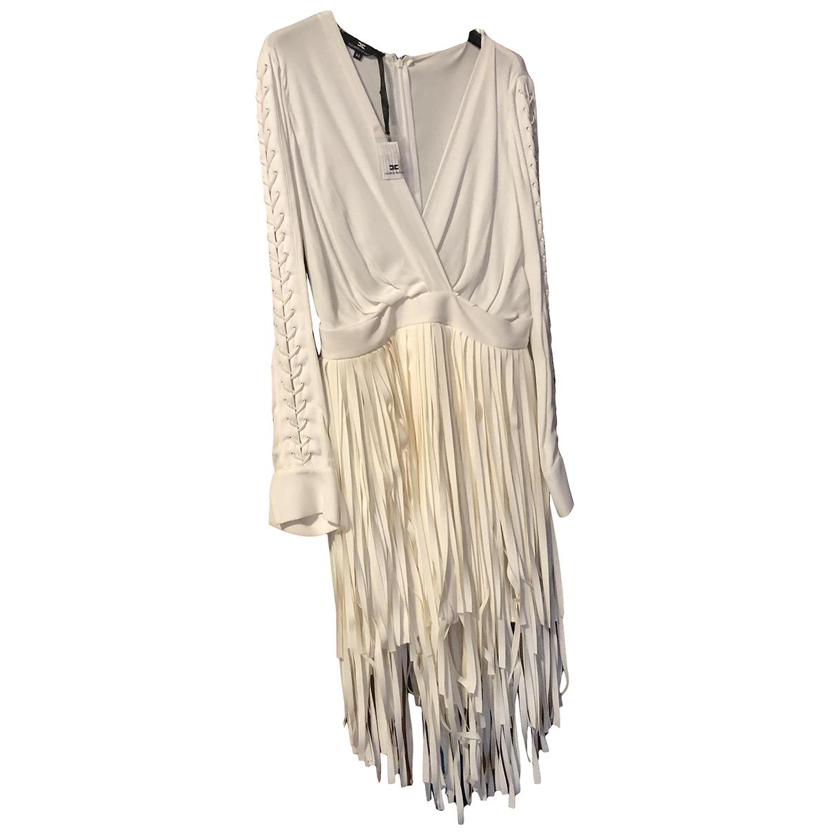 Elisabetta Franchi - Robe   pour femme en soie - blanc