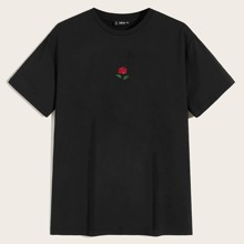 Guys Embroidered Rose Tee
