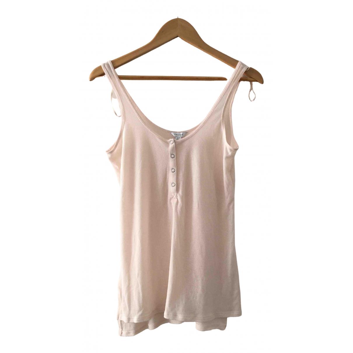 Calvin Klein - Top   pour femme en coton - rose