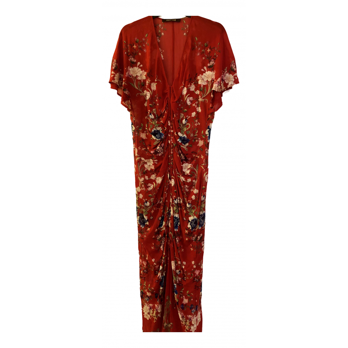 Roberto Cavalli - Robe   pour femme en soie - rouge