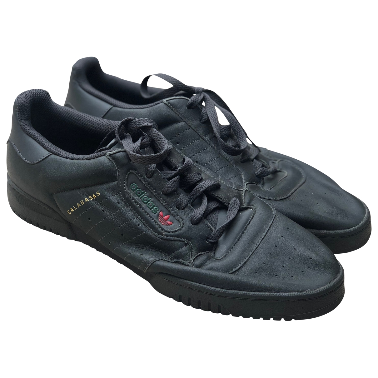 Yeezy X Adidas - Baskets POWERPHASE pour homme en cuir - noir