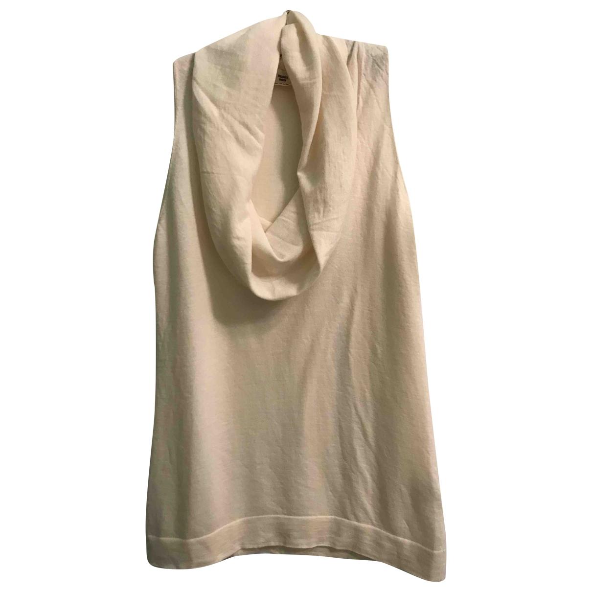 Hermes - Top   pour femme en cachemire - ecru