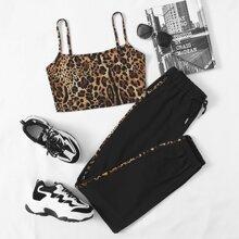 Outfit de dos piezas Cordon Leopardo Deportivo
