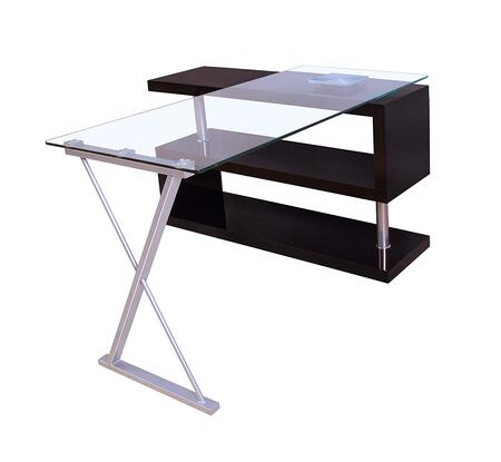 BM158771 Writing Desk with Swivel  Clear Glass &