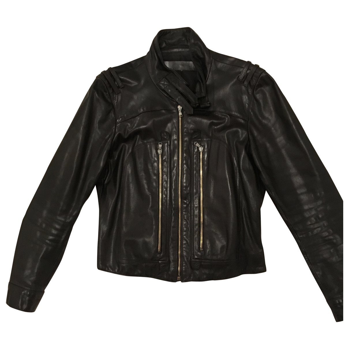 Barbara Bui \N Black Leather Leather jacket for Women 40 FR