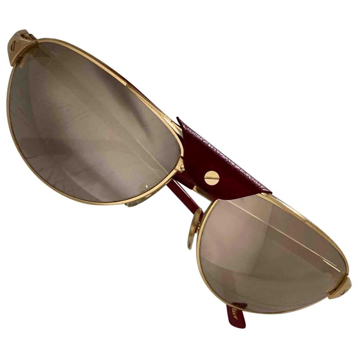 Cartier - Lunettes Santos pour homme en metal - dore