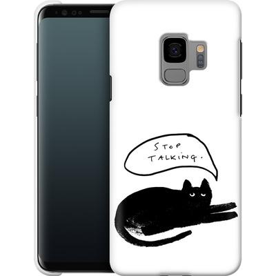 Samsung Galaxy S9 Smartphone Huelle - Stop Talking von caseable Designs