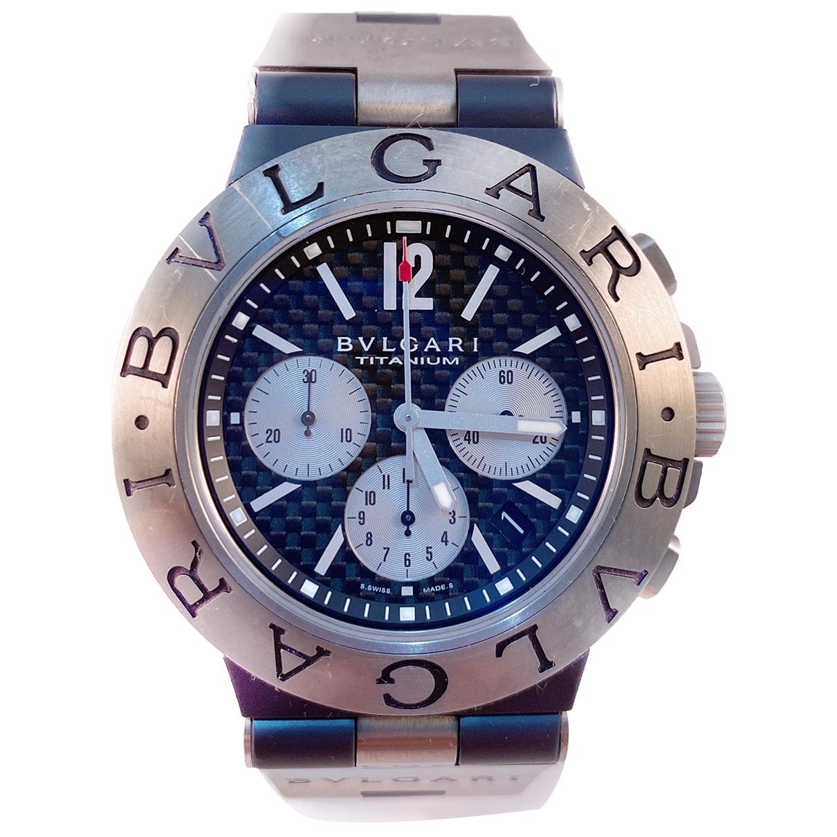 Bvlgari Diagono Uhr in  Grau Titan