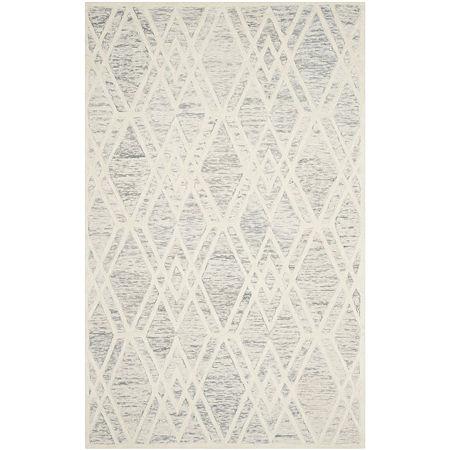Safavieh Elinor Geometric Hand Tufted Wool Rug, One Size , Gray