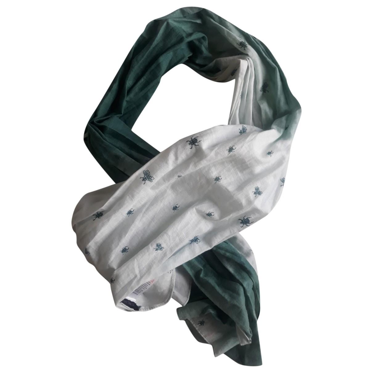 Ikks - Foulard   pour femme en coton - vert