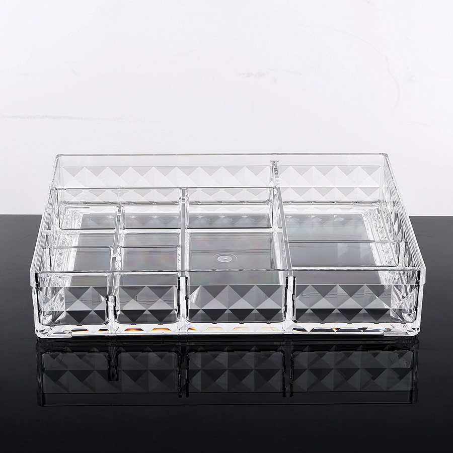 25.2*20.2*4.9cm Environment Friendly Acrylic Material Cosmetic Storage Box