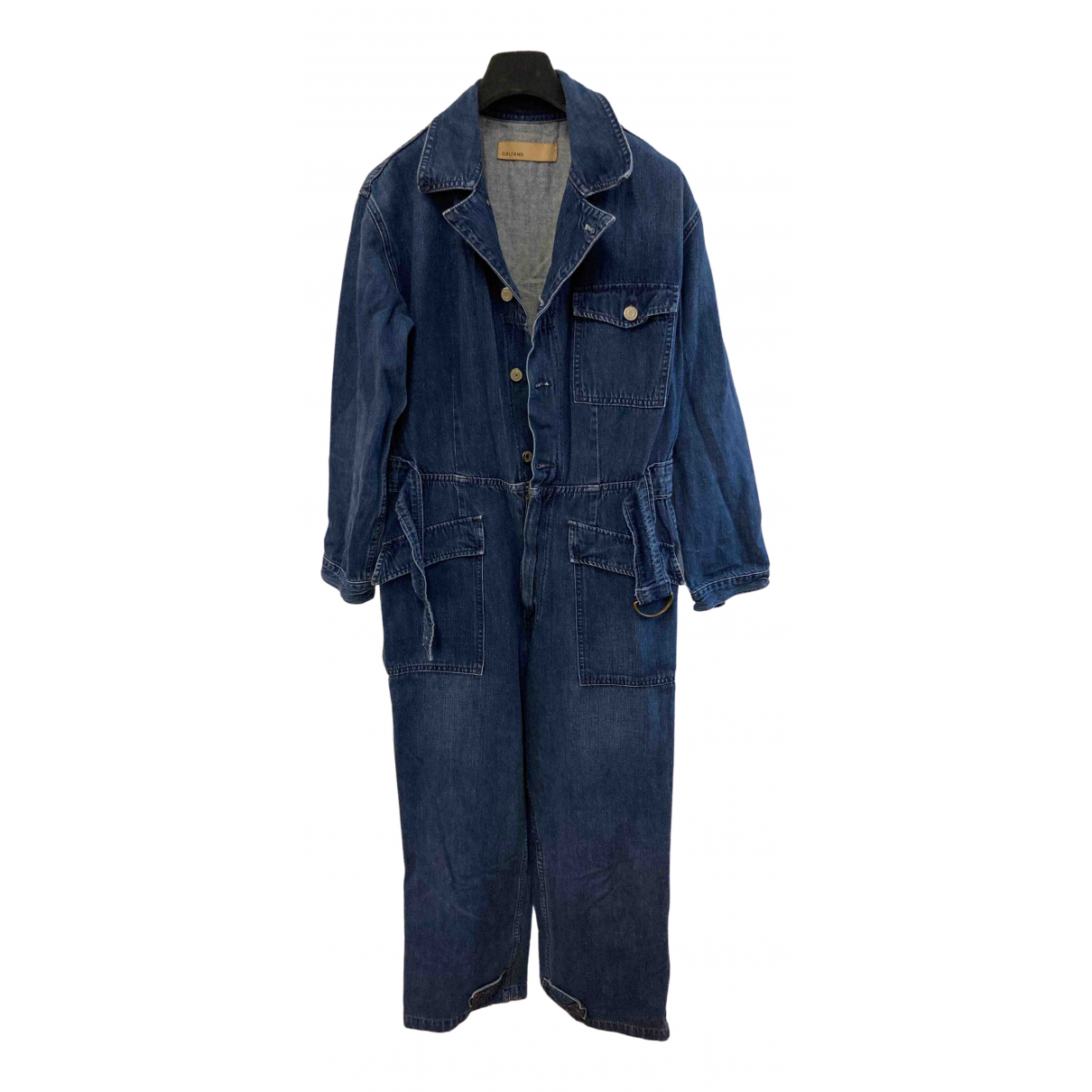 Grlfrnd \N Kleid in  Blau Baumwolle