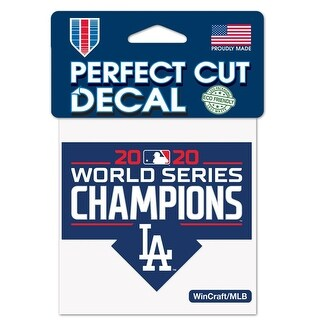 Los Angeles Dodgers 2020 World Series Champions Perfect Cut Decal 3X3 Inches - M (M)