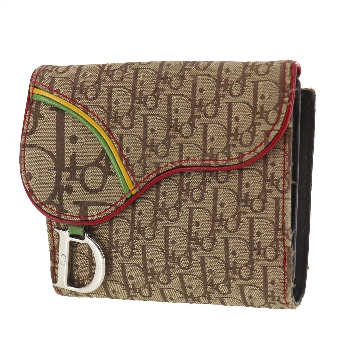 Christian Dior - Portefeuille   pour femme en cuir verni - marron