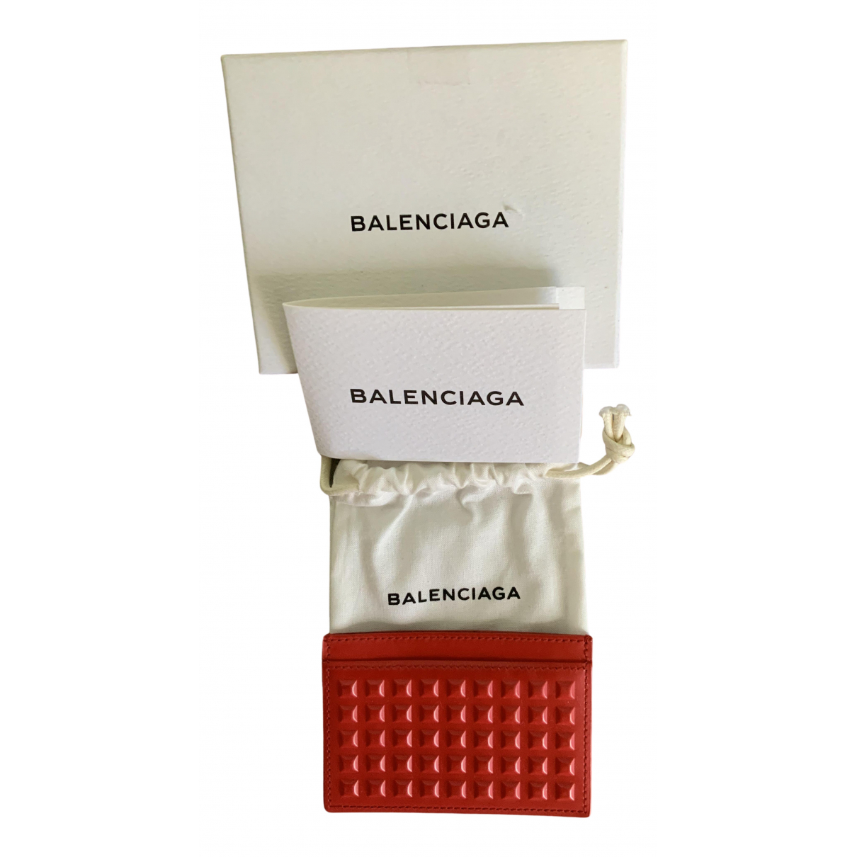 Balenciaga \N Red Leather Purses, wallet & cases for Women \N