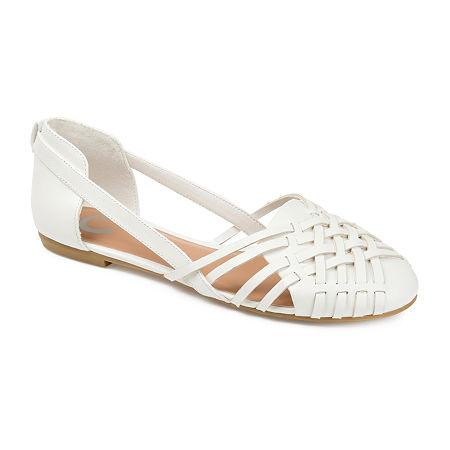 Journee Collection Womens Ekko Slip-On Shoe, 8 1/2 Medium, White