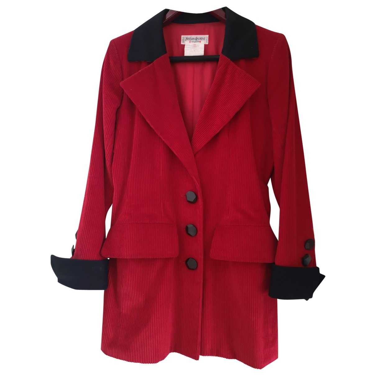 Yves Saint Laurent \N Jacke in  Rot Samt