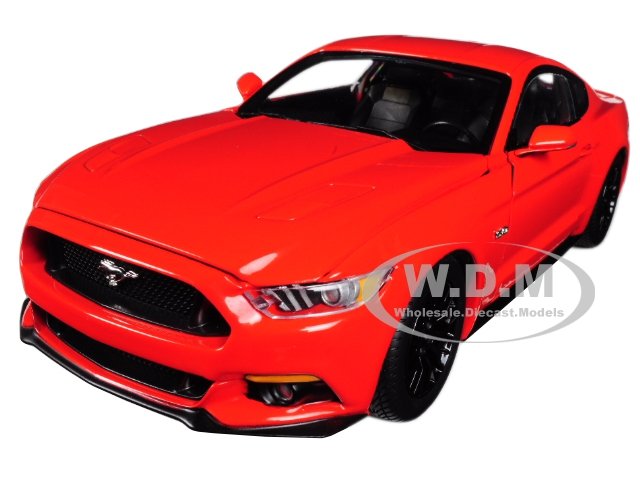 2016 Ford Mustang GT 5.0 Coupe Competition Orange Limited Edition to 1002 pieces Worldwide 1/18 Diecast Model Car by Autoworld
