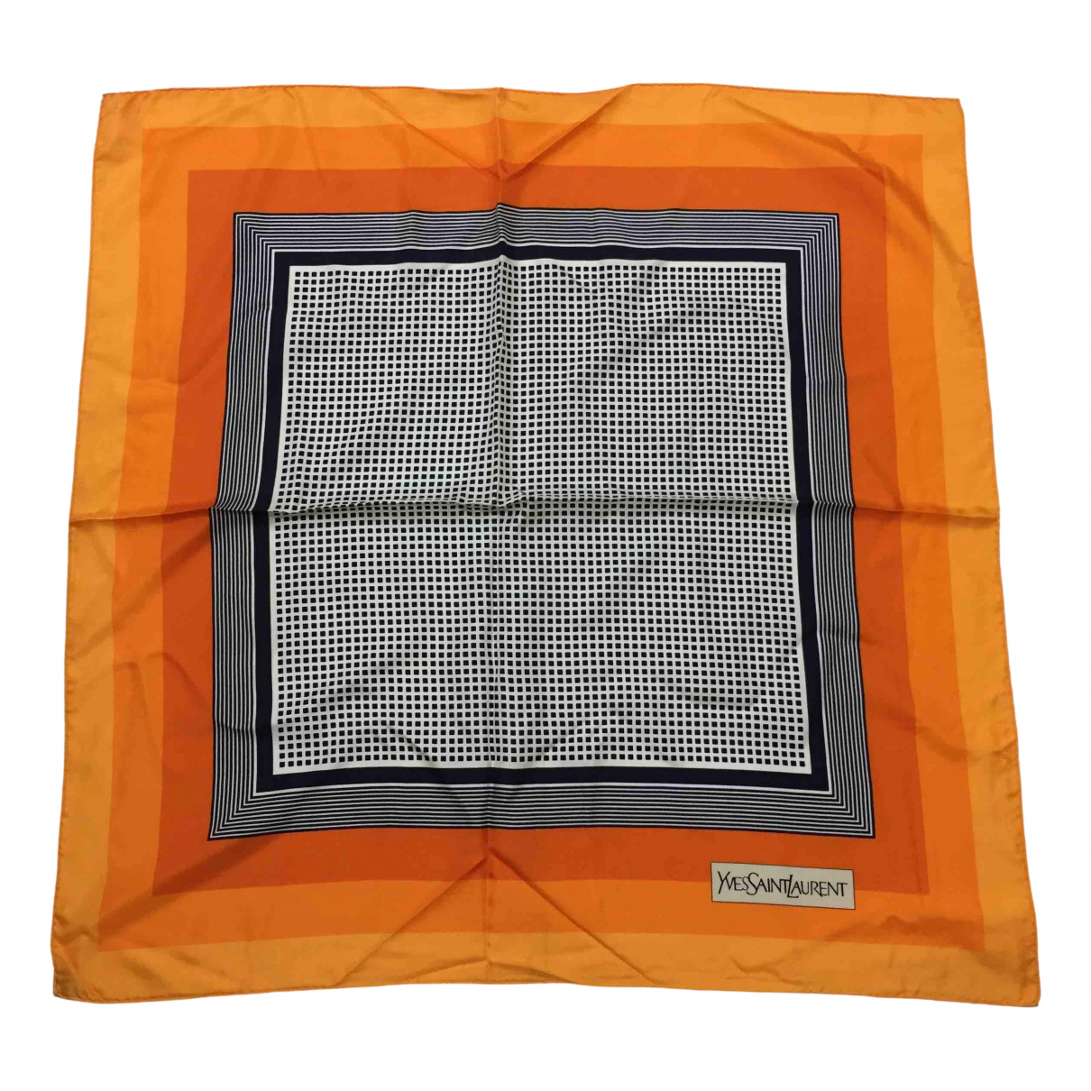 Yves Saint Laurent - Foulard   pour femme en soie - orange