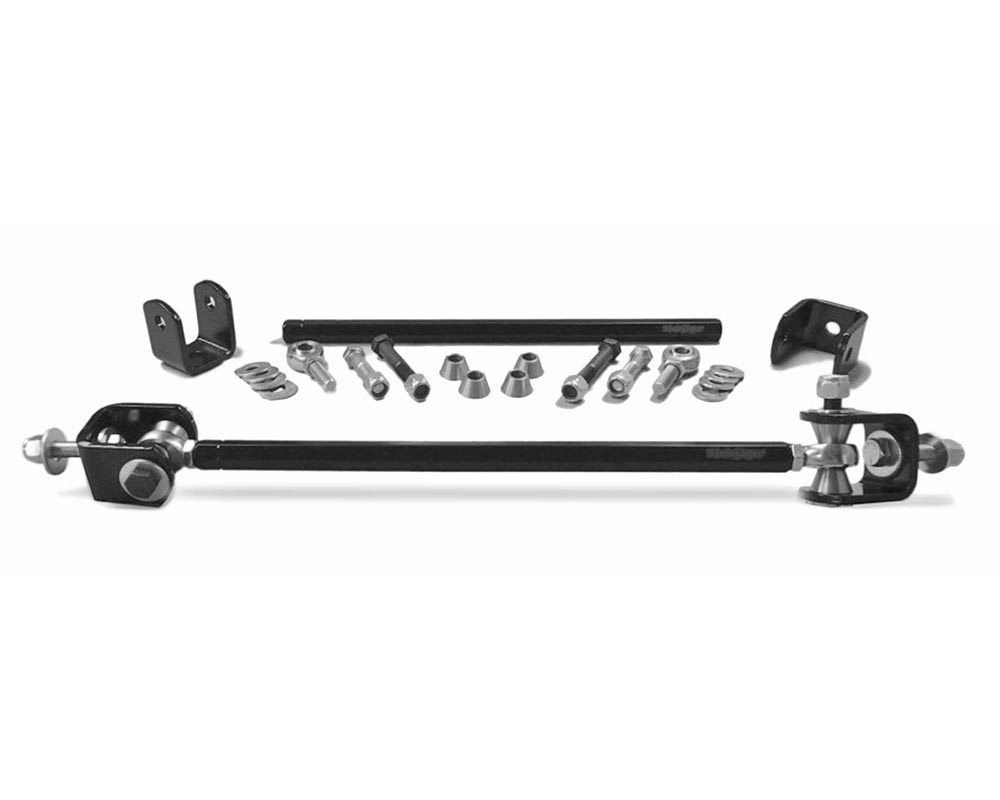 Steinjager J0015947 Drop Clevises Included Sway Bar End Links 3/8-24 16.75 Inches Long Steel Housing, PTFE Race Heims Powder Coated Steel Tube