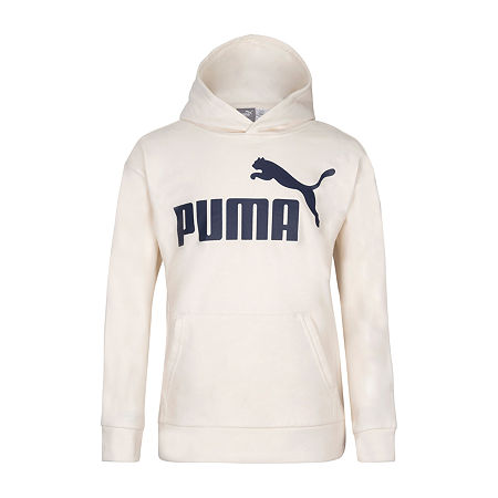 Puma Little Boys Cuffed Sleeve Hoodie, 4 , White