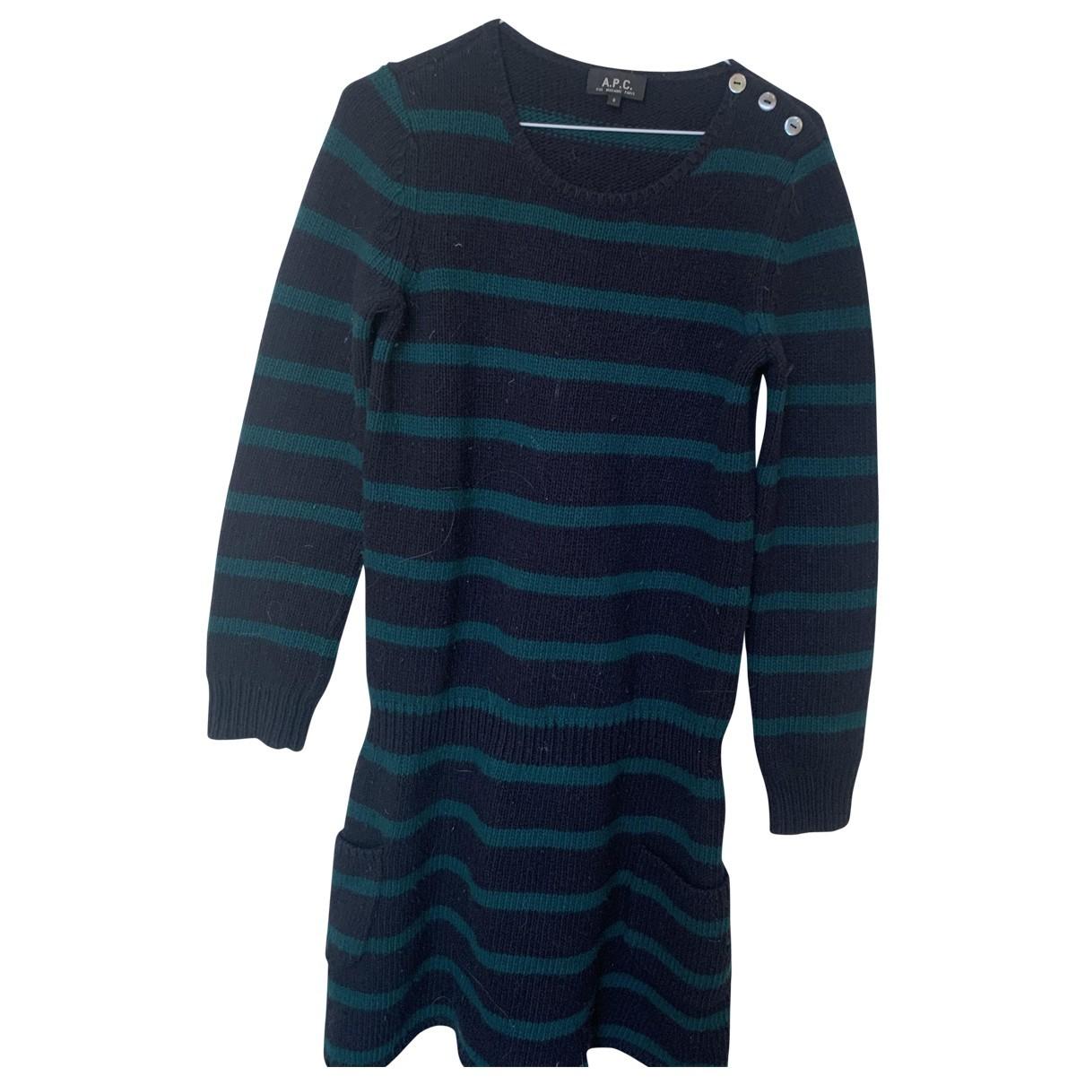 Apc \N Kleid in  Gruen Wolle