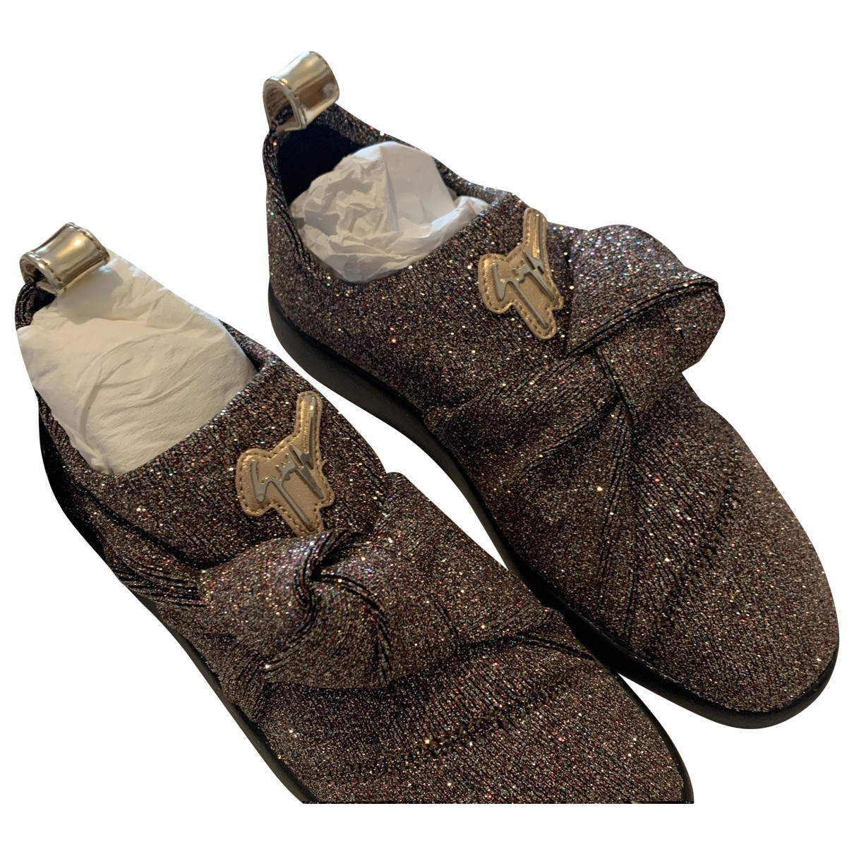 Giuseppe Zanotti Donna Sneakers in  Bunt Leinen