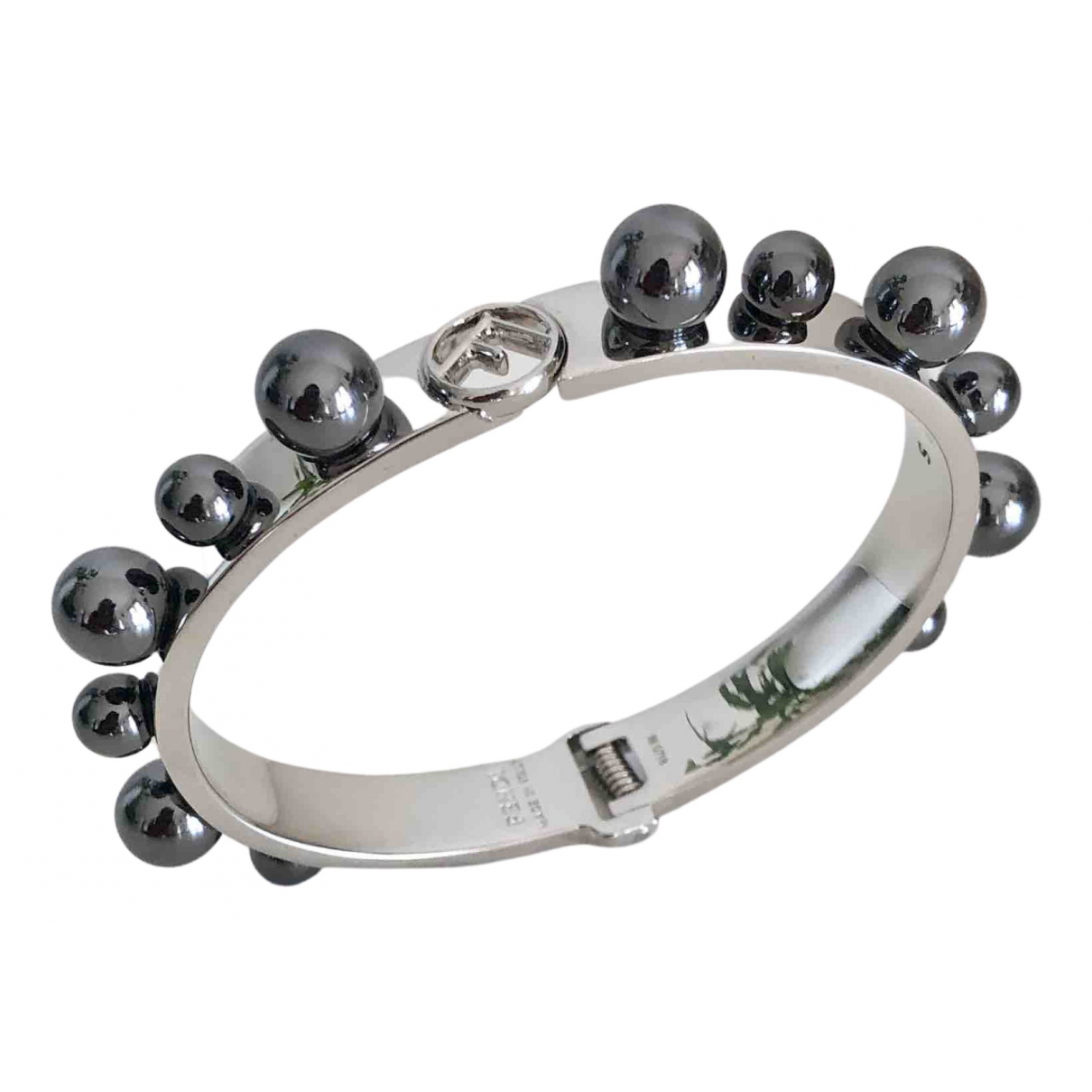 Fendi - Bracelet   pour femme en metal - metallise