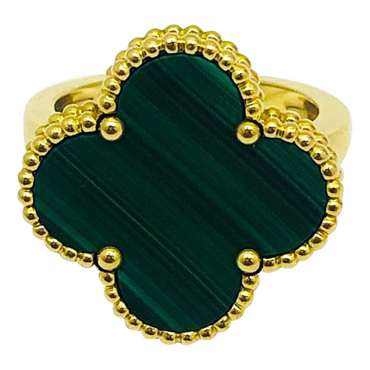 Van Cleef & Arpels - Bague Magic Alhambra pour femme en or jaune - vert