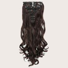 22 Stuecke Lockiges Haarteil mit Klammer