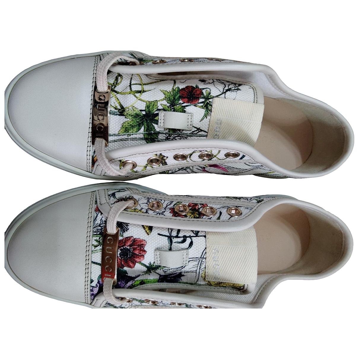 Gucci \N White Cloth Trainers for Women 35 EU