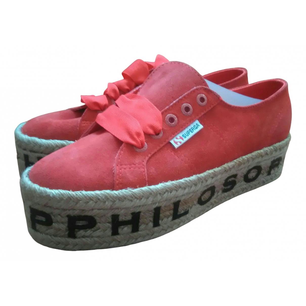 Philosophy Di Lorenzo Serafini \N Sneakers in  Rot Veloursleder