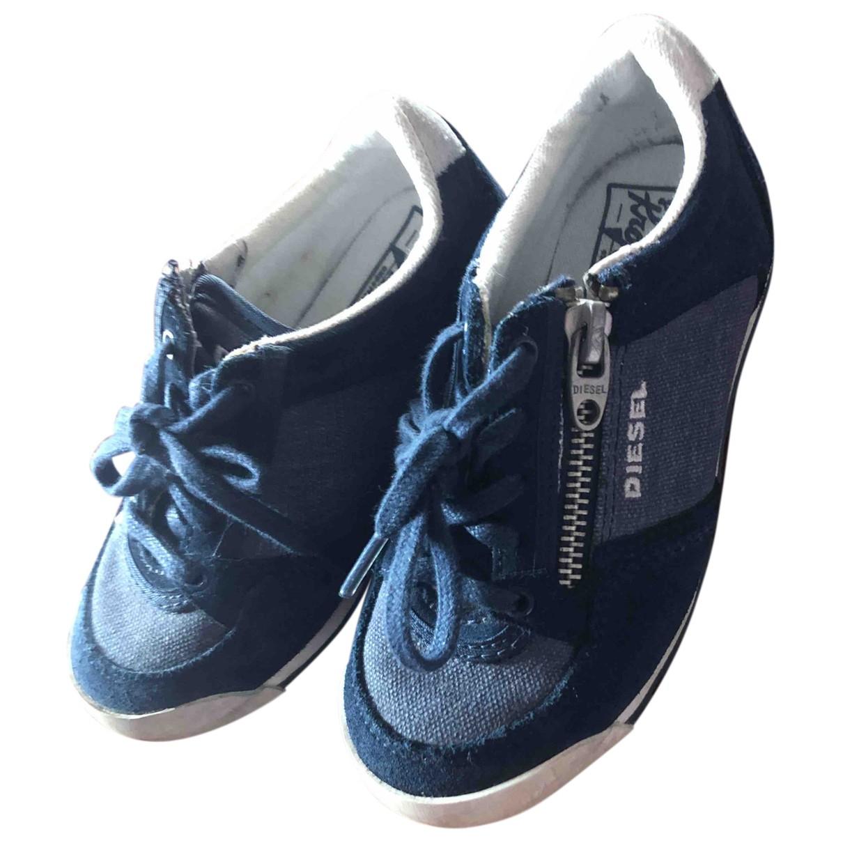 Diesel N Blue Cloth Trainers for Kids 25 FR