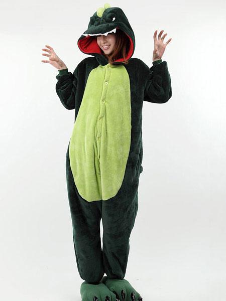 Milanoo Disfraz Halloween Dos tonos Animal Kigurumi traje del dinosaurio de la impresion Halloween