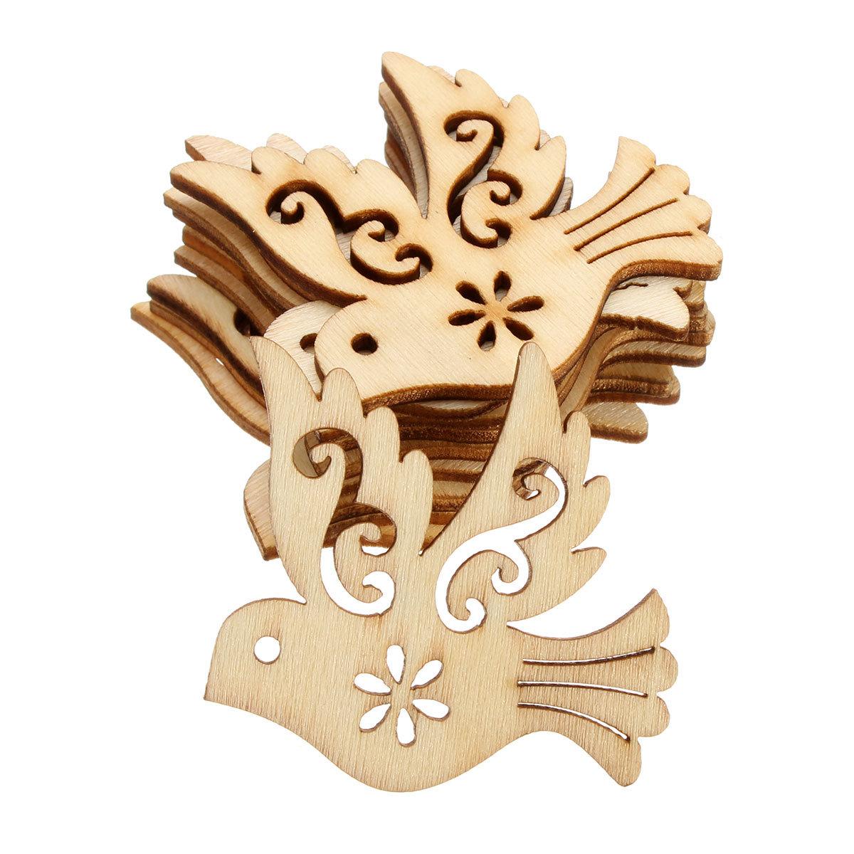 10Pcs Bird Cutting Wood Angle DIY Scrapbook