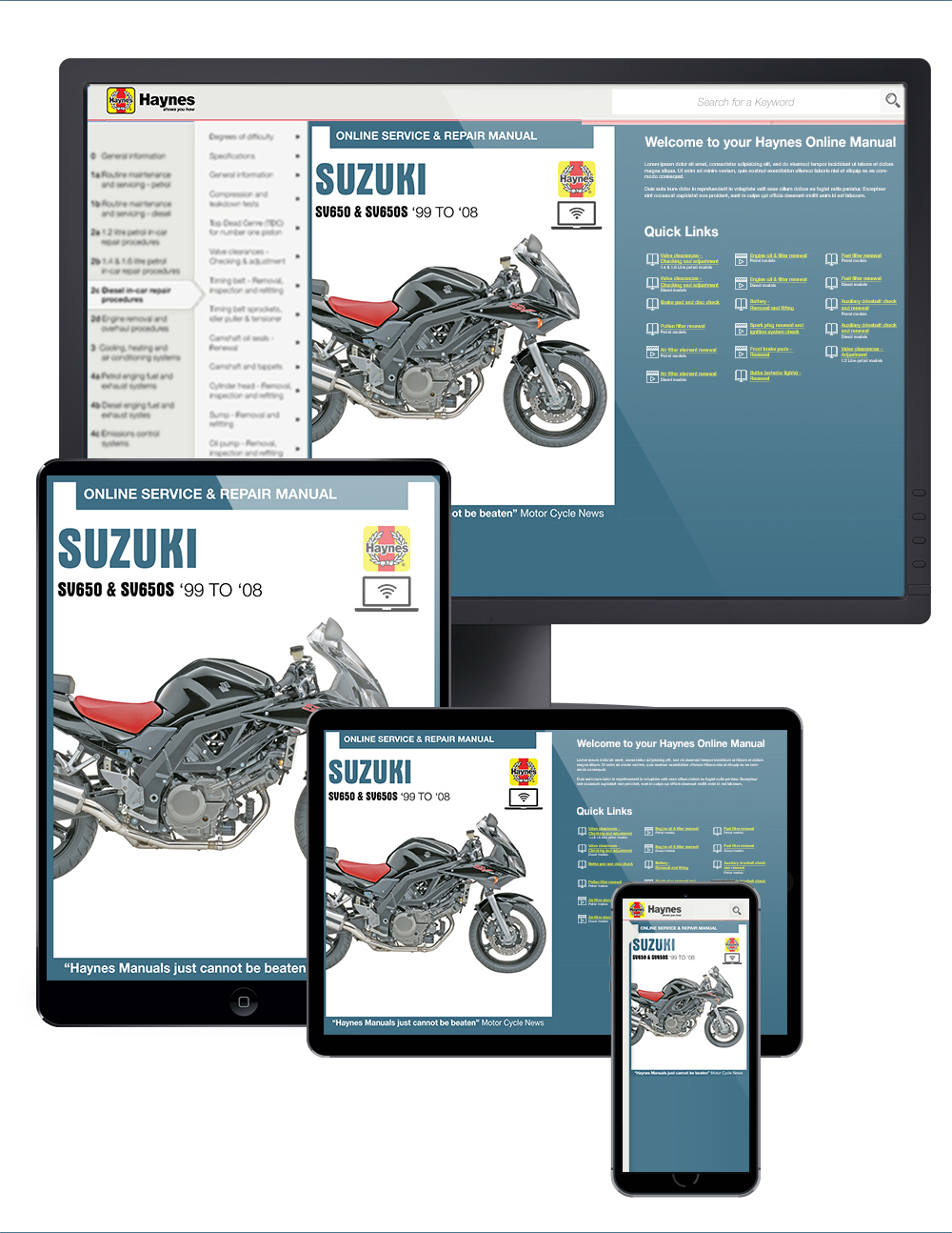 Suzuki SV650 & SV650S (99-08) Haynes Online Manual