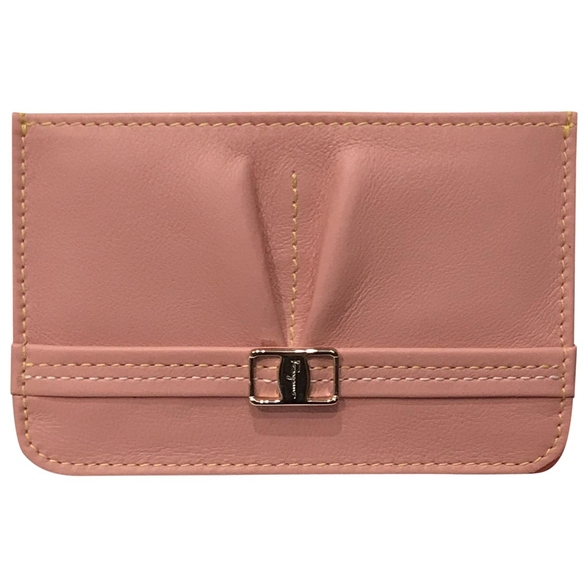 Salvatore Ferragamo \N Pink Leather Purses, wallet & cases for Women \N