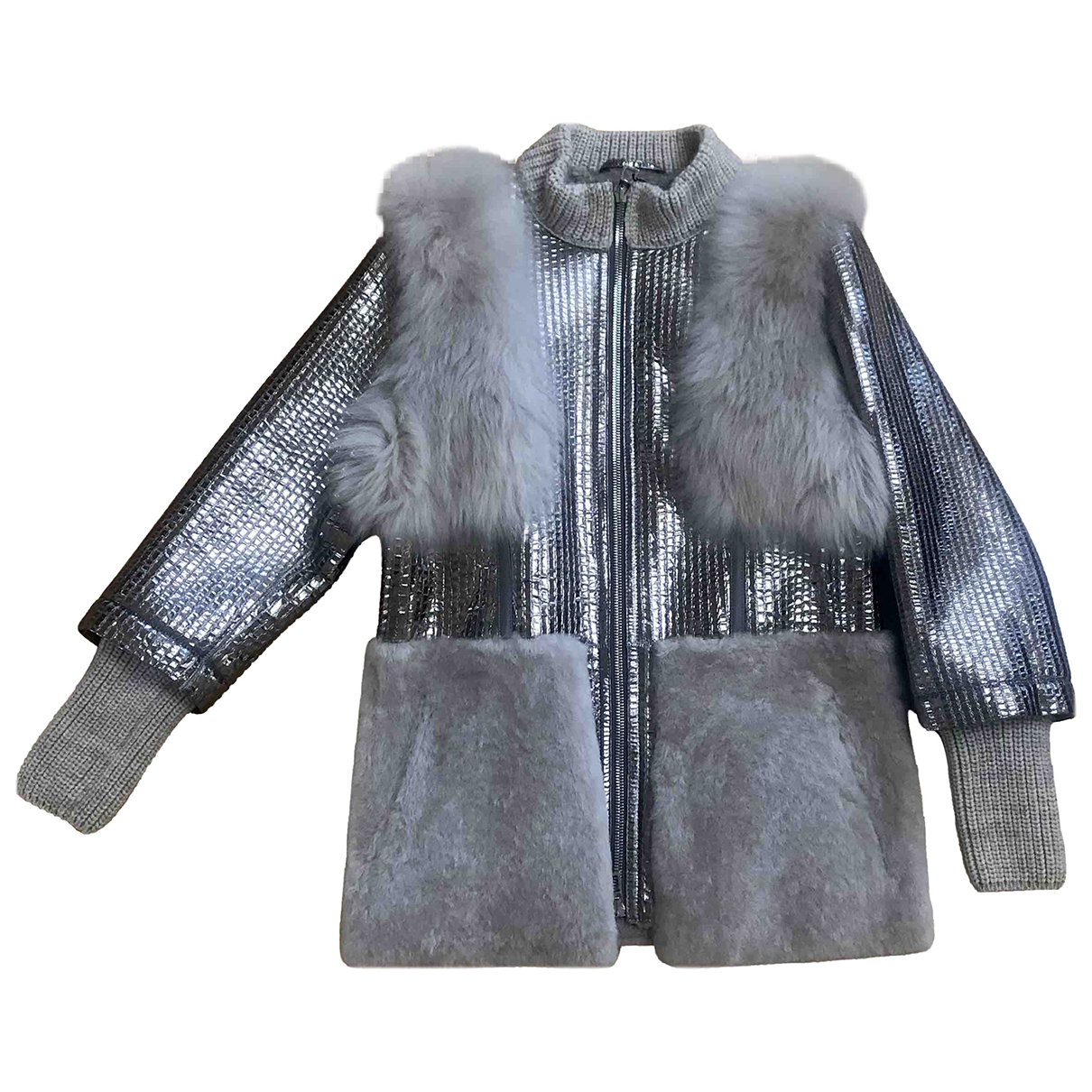 Non Signé / Unsigned \N Silver Mink coat for Women 46 IT