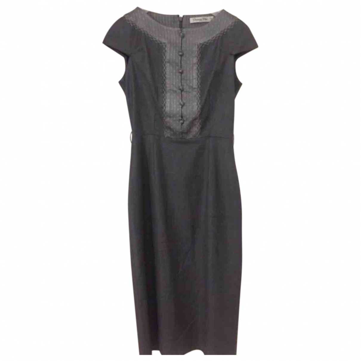 Dior \N Anthracite Silk dress for Women 34 FR