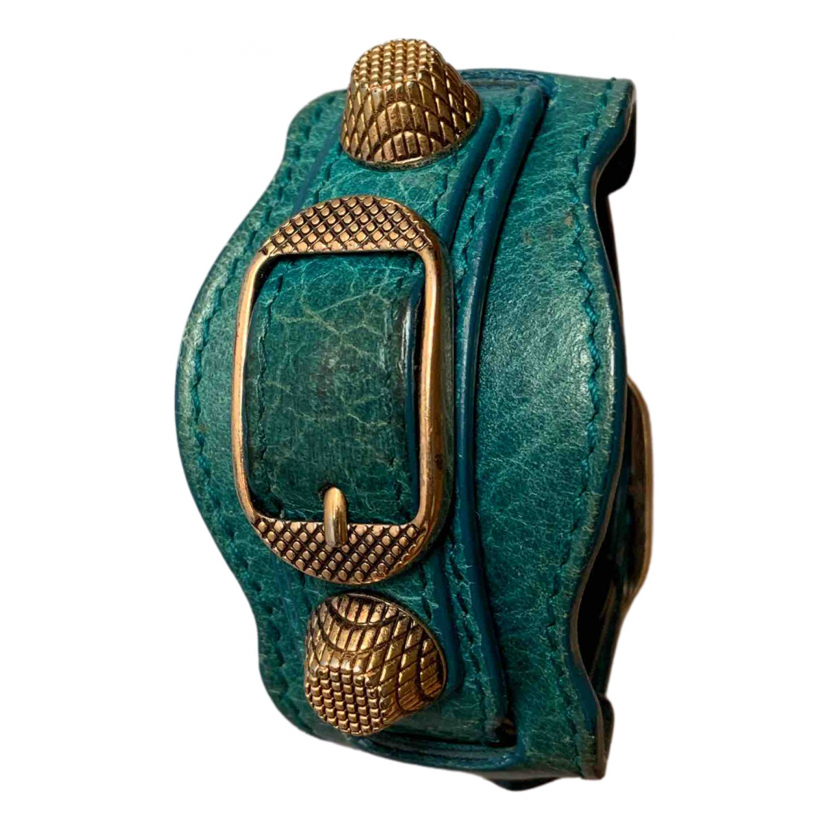 Balenciaga \N Silver Leather bracelet for Women \N