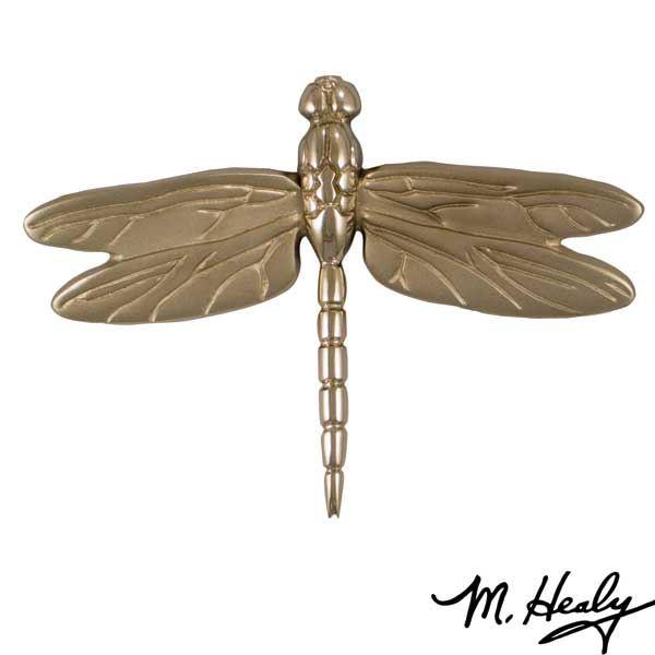 It's My Door! Dragonfly in Flight Door Knocker, Brushed and Polished Nickel Silver