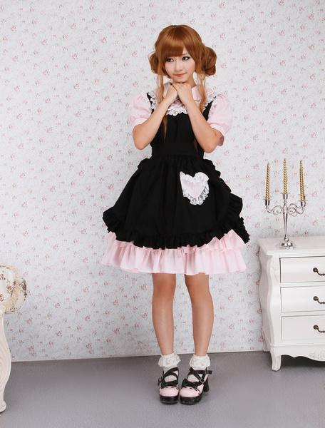 Milanoo Vestido de lolita de algodon con encaje