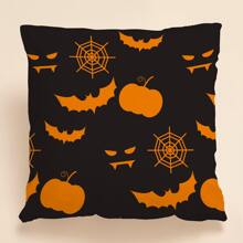 Halloween Print Cushion Cover Without Filler