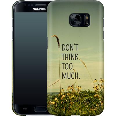 Samsung Galaxy S7 Smartphone Huelle - Travel Like A Bird Without Care von Joy StClaire