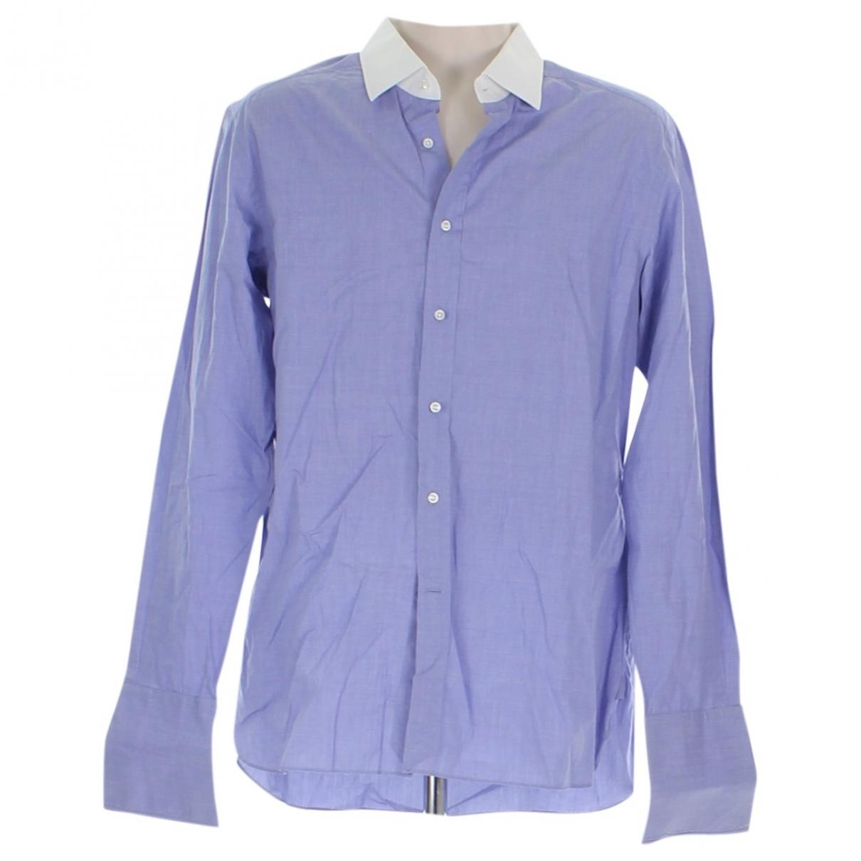 Ralph Lauren - Chemises   pour homme en coton - bleu