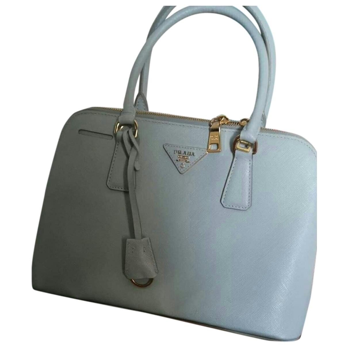 Prada - Sac a main Promenade pour femme en cuir - bleu